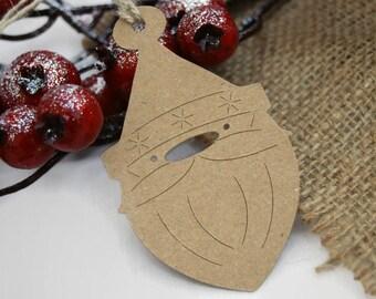 X24 Santa Father Christmas tags Gift tags Christmas Labels