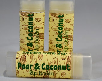 Pear and Coconut Sweetened Lip Balm- Pear-Coconut-Bath and Body-Natural