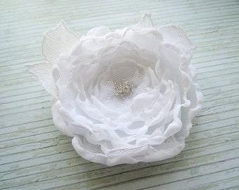 Bridal Hair Clip, White Hair Clip, Wedding Flower Hair Clip, Swedish Wedding Design, Hair Accessories, Wedding Accessories, Made in Sweden
