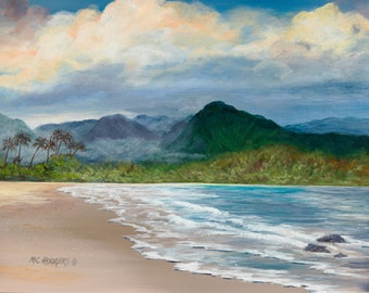 Hawaii 103 Giclee canvas from original acrylic painting