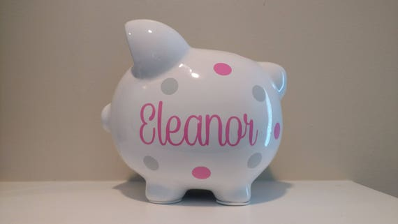 personalized piggy bank custom piggy bank baby shower
