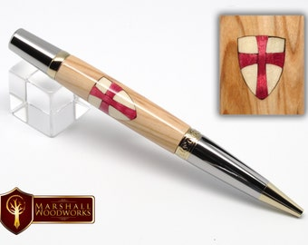 Handmade Pen -Templar Cross - quality Pen - custom pen - gift for him - birthday gift - gel pen