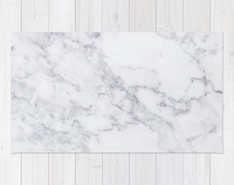 White Marble area rug 2x3 rug modern rug 3x5 rug 4x6 area rug marble print throw rug bedroom rug pink white marble decor rug living dining
