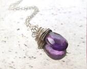 Amethyst Necklace Silver ...