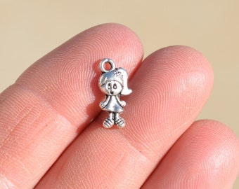 1 Silver Little Girl Charm SC1563