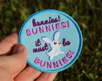 """Buffy the Vampire Slayer Inspired It Must Be Bunnies 2.5"""" Iron On Embroidered Patch"""