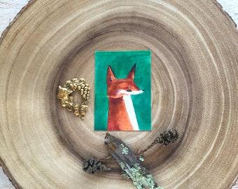 SALE!!! Sly as a Fox, original ACEO