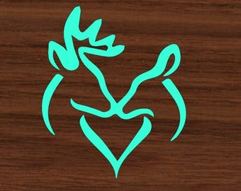 Love Deer Decal