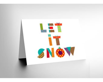 Let It Snow / Patchwork Pattern / Xmas Blank Card - CL1959