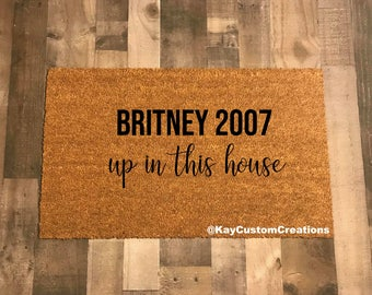Britney 2007 up in this House Doormat