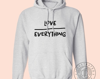 Chocolate Over Everything unisex fit hoodie hooded sweatshirt K0121 XECei