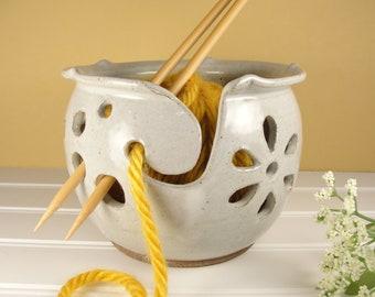 Yarn bowl, Knitting bowl, Yarn bowl Ceramic, Yarn bowl Crohet, Pottery Gift ideas