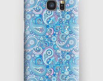 Case for Samsung S5, S6, S6 + S7, S7 +, S8, S8 +, A3, A5, J3, GP, 4.5, 8, purple paisley