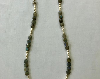Aqua & Silver Necklace