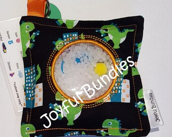 I Spy Bag, Dinosaurs, Car Game, Educational Game, Busy Bag, Travel Toy, I Spy Game, Party Favor, Eye Spy Game, Sensory Toy, Stocking Stuffer