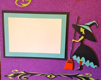 Witching Hour Halloween Scrapbook Page (12 in x 12 in)