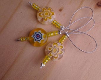 Sun-Kisses stitch markers set