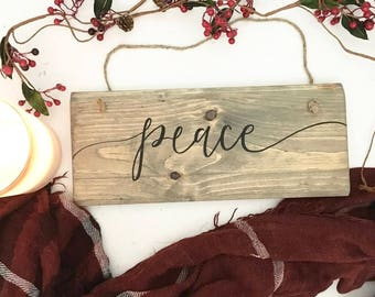 Peace - Wood Sign