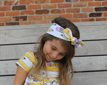 Pencil Bow Knot, Baby headband, toddler headband, girl headband, adult headband, back to school, teacher headband