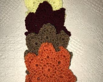 Handmade Thanksgiving, leaf, Fall Coasters