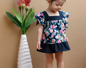 PDF Pattern - Rene Dress for 12M - 5T and tutorial.