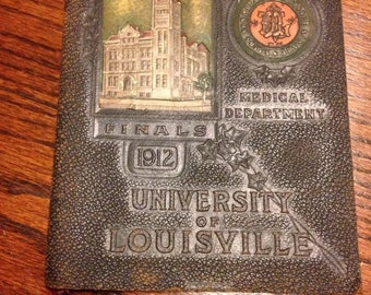 1912 University of Louisville commencement leather bound program