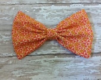 Fall hair bow, Girl's hair bow