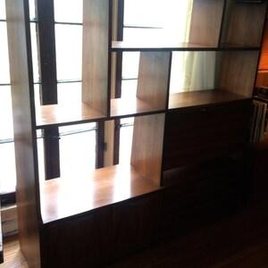 Danish Mid Century Room Divider Wall Unit