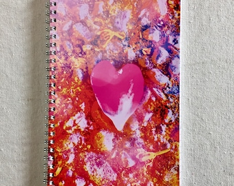 PINK HEART Art Notebook