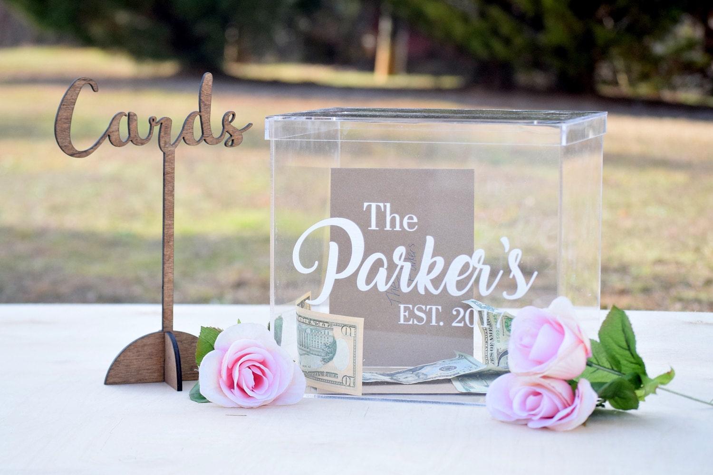 Personalized Wedding Card Box Acrylic Card Box Wedding