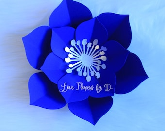 SVG and PDF Paper flower template #4