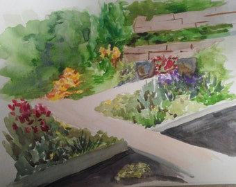 Denver Botanic Gardens #2. Original watercolor