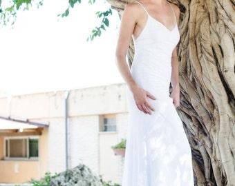 Mermaid Lace Wedding Dress Simple Lace Wedding Dress Boho Wedding Dress Bohemian Wedding Beach Wedding Dress See-through Wedding Dress