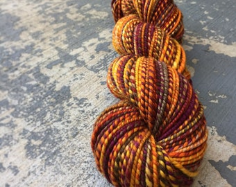 Self-Loving Badass: Handspun Superwash Merino Worsted Weight Yarn (165 yards)