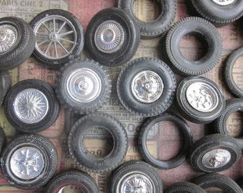 4 Vintage Tires and Wheels