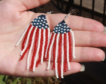 patriotic jewelry usa jewelry patriotic patriotic earrings america jewelry flag earrings national flag patriotic gift USA earrings USA gift