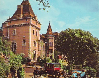 Vintage Automobile Museum, North of Lyons, France. Used Post Card. 1970s
