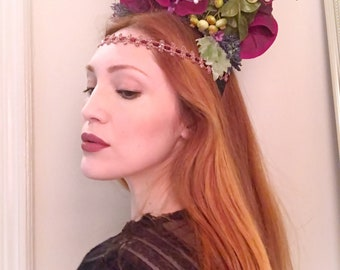 Floral and Moss Headdress