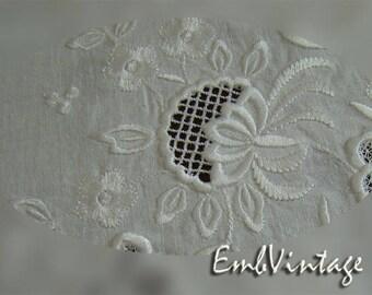 MACHINE EMBROIDERY Desigm - Whitework flower 6 - Instant Download
