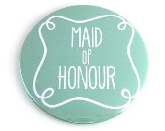 Maid of Honour Pocket Mirror - Aqua, Pink or Grey