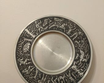 Munchen Germany Pewter Plate by German artist L. Mory