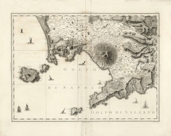 1794 Map of Naples, Italy