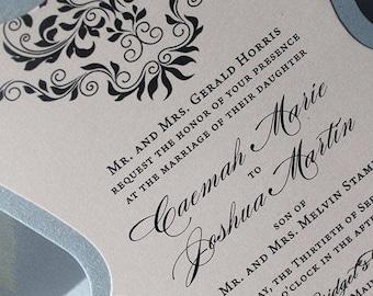 Bracket Invitation, Wedding Invitation, Bridal Shower Invitation, 65th Birthday Invite, Quinceanera Invite   Anniversary Invitation