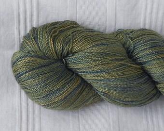 Cedar alpaca/silk laceweight yarn