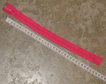 1 plastic zipper pink not separable 30 cm