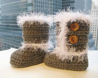 Toddler Boots Crochet Pattern, Crochet Slipper Pattern, Toddler Booties Pattern, Toddler Slipper Crochet Pattern, Furry Boots