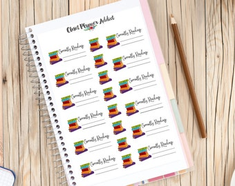 Books Currently Reading Planner Stickers | Book Lovers and Bookworms | Books Stickers | Study Stickers | School Stickers (S-153)