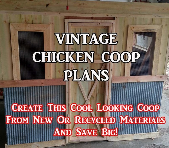 diy vintage chicken coop plans can be made from pallets