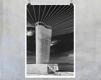 Le Corbusier Photography Unité d'Habitation Marseilles Provence France modern architecture monochrome 12x8 14x9 22x34