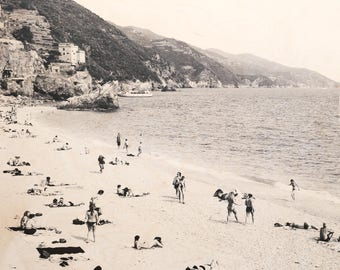 Italian Holiday, 'Al Mare #1' Limited Edition, Image Transfer on Wood Panel by Patrick Lajoie, photo art block, italy photography, beach,b&w